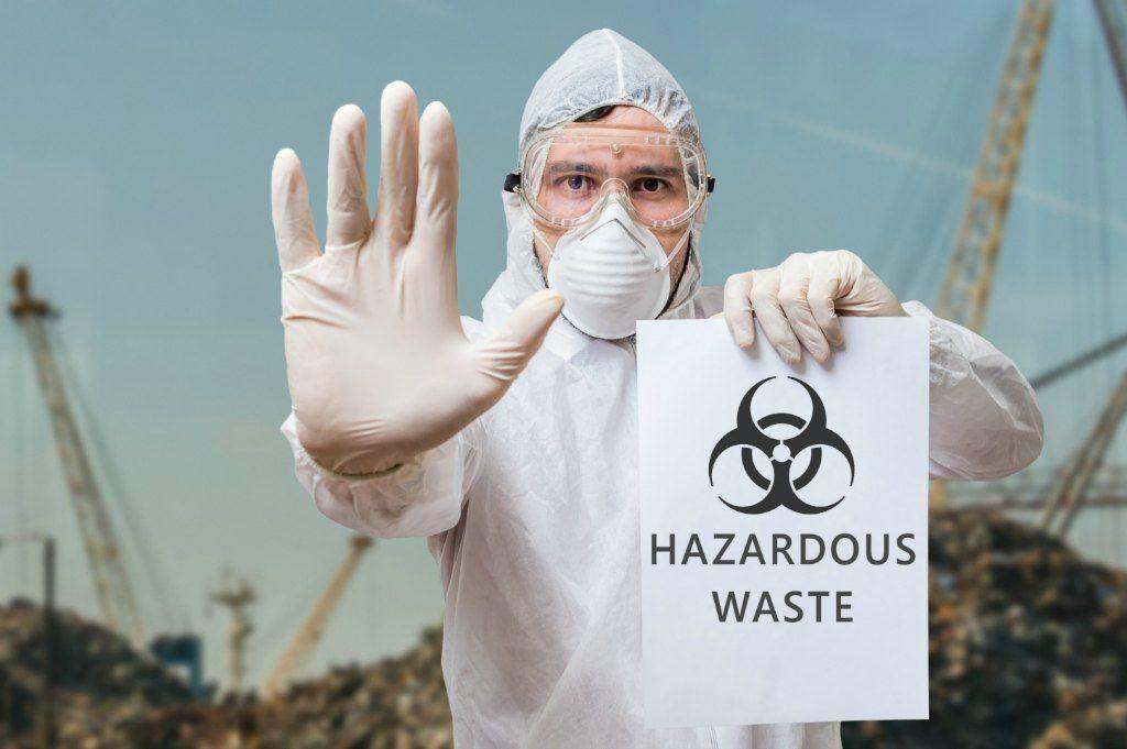 hazardous waste warning